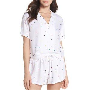 Rails • Rainbow Star Print Pajamas Short Set